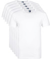 Alan Red Giftbox Derby O-Hals T-shirts Wit (5Pack)