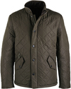 Barbour Quilted Jas Powell Olijf