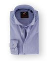 Cutaway Overhemd Blauw Streep