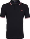 Fred Perry Polo Navy White Red