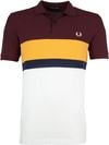 Fred Perry Polo Shirt Stripes Mahogany