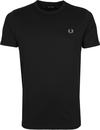 Fred Perry T-Shirt Zwart M3519
