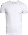Garage Stretch Basic T-Shirt Weiß V-Ausschnitt