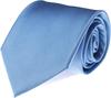 Krawatte Seide Hellblau Uni F02