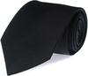 Krawatte Seide Schwarz Uni F08