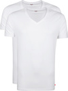 Levi's T-shirt V-Hals Wit 2Pack