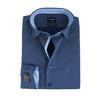 Olymp SL7 Modern Fit Shirt Donkerblauw Print