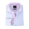 Profuomo Overhemd Blauw + Roze Punt