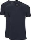 Slater 2-pack Basic Fit T-shirt V-hals Navy
