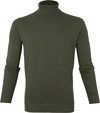 Suitable Cotton Dex Turtleneck Olive Green