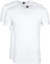 Suitable T-shirt 2er Pack O-Hals Weiß