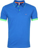 Sun68 Polo Small Stripes Fluo Cobalt
