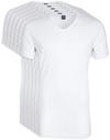 V-Ausschnitt 6er Pack Bambus T-Shirt Weiß