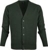 William Lockie Lambswool Cardigan Dark Green