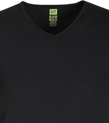 Alan Red Bamboo T-shirt Black