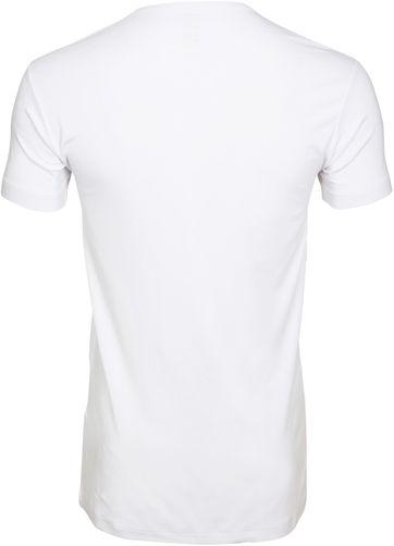 Alan Red Bamboo T-shirt O-Hals Wit