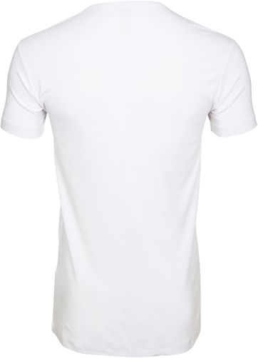 Alan Red Bamboo T-shirt O-Neck Wite