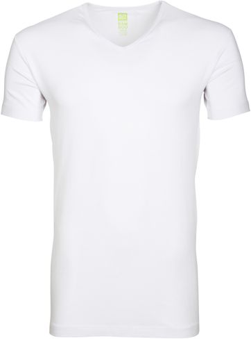 37b8c1d9 Alan Red Bamboo T-shirt V-Hals Wit Bambo 6663/2 White online ...