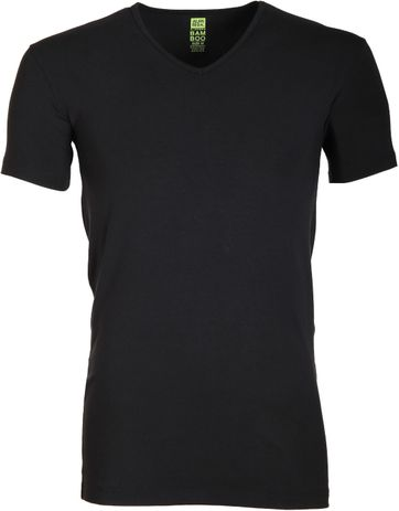 Alan Red Bamboo T-shirt Zwart