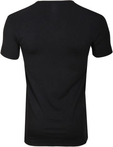 Alan Red Bamboo T-shirt Zwart