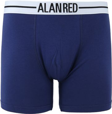 Alan Red Boxer Shirts Dark Blue 2-Pack