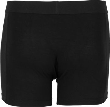 Alan Red Boxer Shorts Bamboo Black