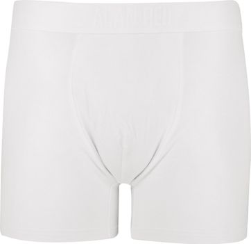 Alan Red Boxer Shorts Bamboo White