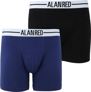 Alan Red Boxer Shorts Dark Blue 2-Pack
