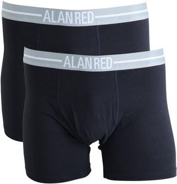 Alan Red Boxer Shorts Navy 2Pack