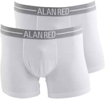 Alan Red Boxershort Wit 2Pack