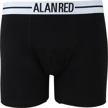 Alan Red Boxershort Zwart 2Pack