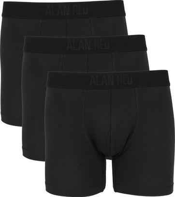 Alan Red Boxershort Zwart 3Pack