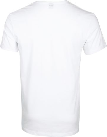 Alan Red Dean V-Neck T-shirt White 2-Pack