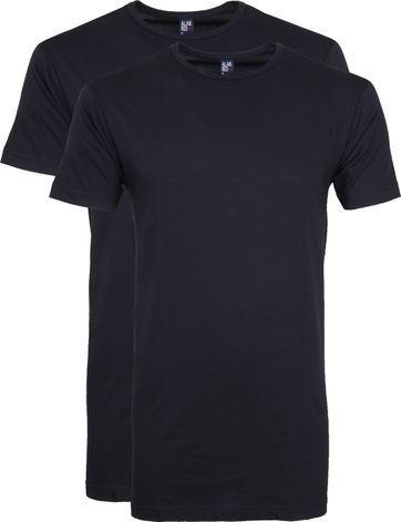 Alan Red Derby Extra Lang T-Shirt Navy (2-Pack)