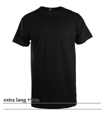Alan Red Derby Extra Lang T-Shirt Zwart (1Pack)
