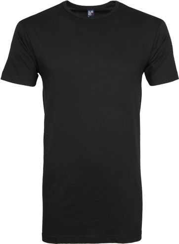 Alan Red Derby Extra Lang T-Shirt Zwart (2-Pack)