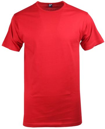 Alan Red Derby O-Hals T-Shirt Stone Red (1Pack)
