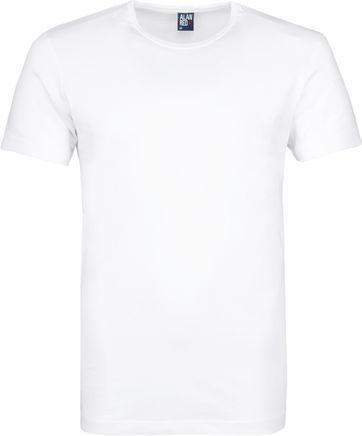 Alan Red Derby O-Hals T-Shirt Wit (2Pack)