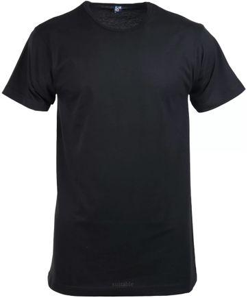 Alan Red Derby O-Neck T-shirt Black 1-Pack