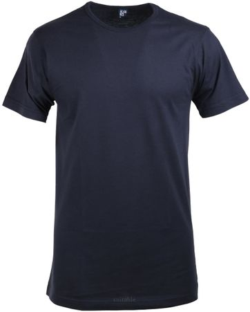 Alan Red Derby O-Neck T-shirt Navy 1-Pack