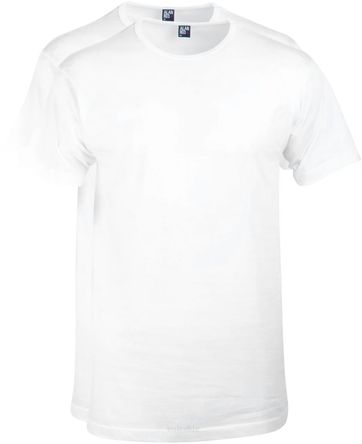 Alan Red Derby Round Neck T-shirt White 2-Pack