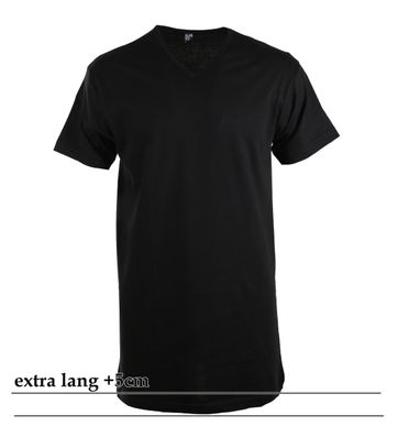 Alan Red Extra Lang T-Shirts Vermont Schwarz (1-Pack)