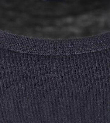 Detail Alan Red Extra Lange T-Shirts Derby Navy (1pack)