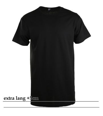 Alan Red Extra Lange T-Shirts Derby Zwart (1pack)