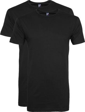 42d47c0c0 Alan Red Extra Long T-Shirts Derby Black (2-Pack)