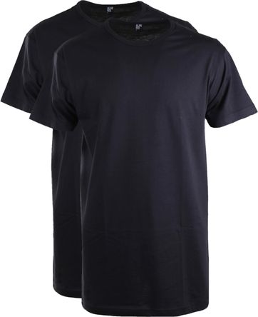 Alan Red Extra Long T-Shirts Derby Navy (2-Pack)