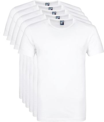 Alan Red Giftbox O-Neck T-shirts White 5-Pack