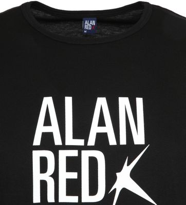 Alan Red Mike T-shirt Logo Zwart