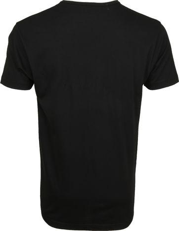 Alan Red Mike T-shirt Logo Zwart