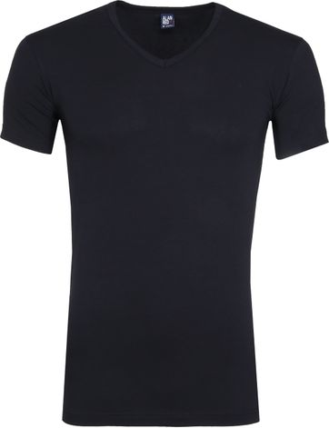 Alan Red Oklahoma Stretch T-Shirt Navy (2er-Pack)
